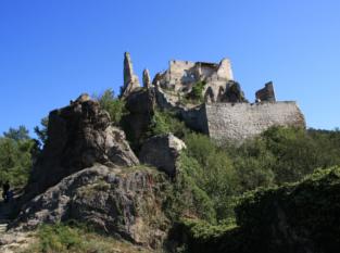 Lage Kellerberg unterhalb der Burg Dürnstein
