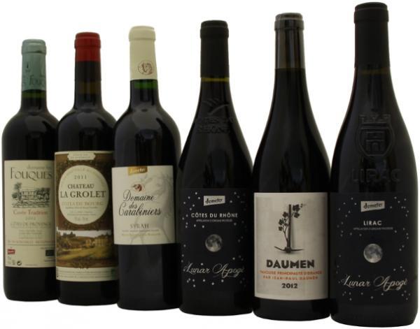 Probierpaket Demeter Rotwein Frankreich