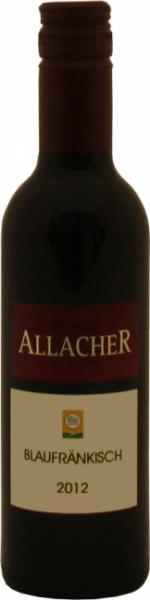Kleine Weinflasche, Blaufränkisch Klassik, Allacher, 2014/2015, Histaminrestwert unter 0,1 mg/l