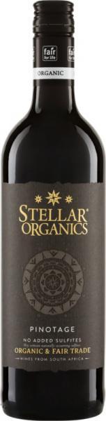 Pinotage Stellar Organics ohne SO2-Zusatz, 2019, Biowein Südafrika, Ungeschwefelter Wein
