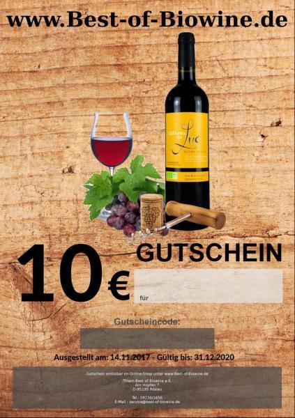 10 Euro Geschenk Gutschein