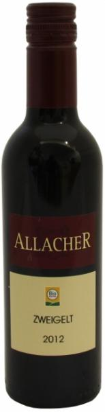 Zweigelt Allacher, 2015, halbe Flasche, Rotwein, Histaminrestwert unter 0,1 mg/l