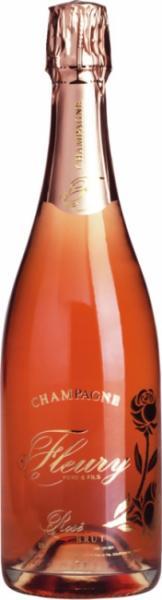 Champagne Rosé Brut Fleury / Bio-Champagner, Frankreich, Demeter Wein