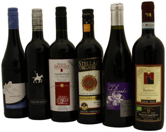 Beliebte Rotweine ohne zugesetzte Sulfite