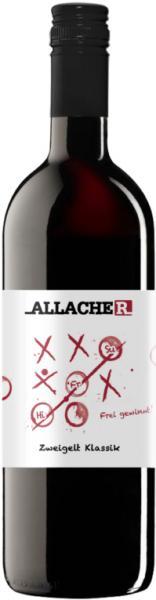 Zweigelt Klassik, Allacher, 2019, Rotwein, Österreich, Histaminrestwert unter 0,1 mg/l