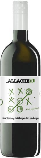 Weißburgunder /Chardonnay / Neuburger, Histamingeprüfter Wein 2016, Allacher, Österreich, Bio